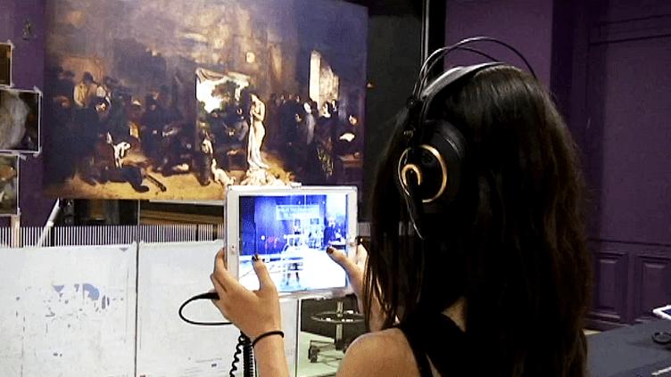 L'Atelier du peintre de Gustave Courbet expliqué sur tablette numérique au musée d'Orsay  (France 3 / Culturebox)