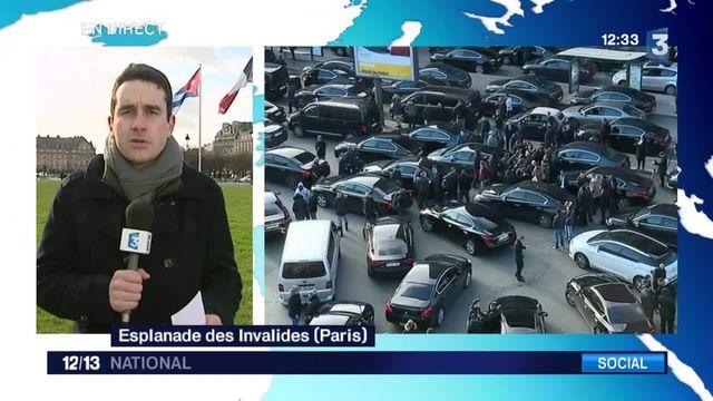 Les chauffeurs privés manifestent à leur tour dans Paris