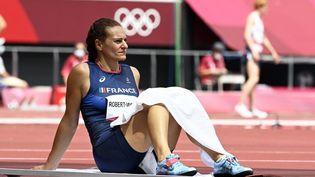 Mélina Robert-Michon après son élimination aux Jeux de Tokyo, le 31 juillet 2021. (HERVIO JEAN-MARIE / KMSP / AFP)