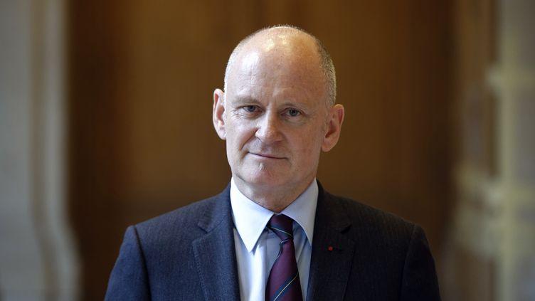 Christophe Girard, le 18 décembre 2013 à la mairie du 4e arrondissement de Paris. (LIONEL BONAVENTURE / AFP)