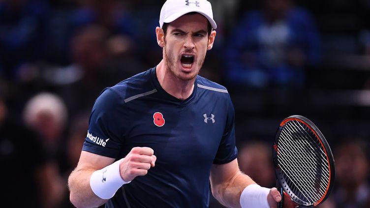 Andy Murray n'est qu'à une victoire de la place de numéro 1 mondial.  (FRANCK FIFE / AFP)