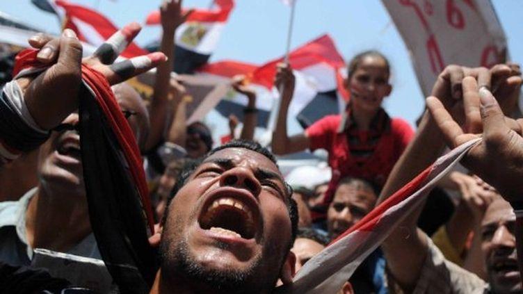 Manifestants au Caire place Tahrir le 15 juillet 2011 (AFP. M.Hossam)