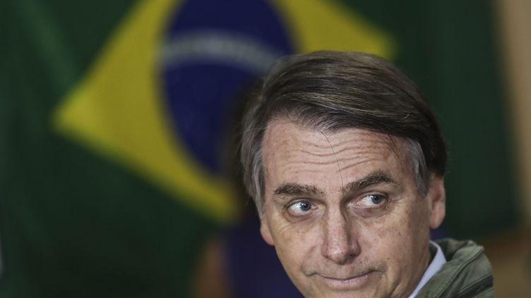 Jair Bolsonaro, le 28 octobre 2018, à Rio de Janeiro (Brésil). (RICARDO MORAES / AFP)