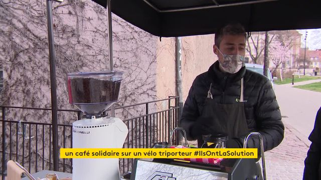À Colmar, un café tripoteur pour respecter l'environnement et rencontrer les clients malgré le Covid