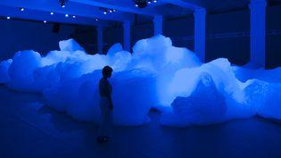"""Les nuages de Kohei Nawa, """"Foam"""", s'élèvent jusqu'à quatre mètres de haut  (Graziella Antonini)"""