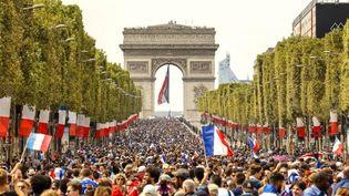 L'Arc de Triomphe le 15 juillet 2018  (BRUNO DE HOGUES / ONLY FRANCE)
