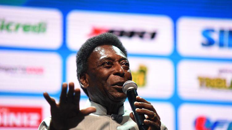 Edson Arantes do Nascimento, dit Pelé, le 15 janvier 2018 àRio de Janeiro (Brésil). (FABI0 TEIXEIRA / ANADOLU AGENCY / AFP)