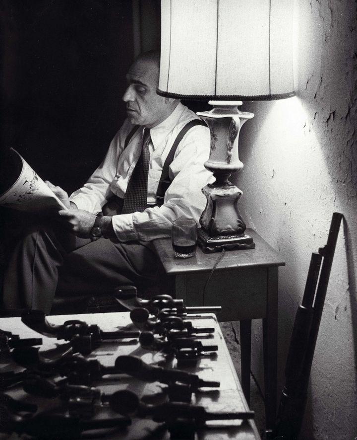 """Abe Vigoda sur le tournage du """"Parrain"""" en 1972  (Kobal / The Picture Desk )"""