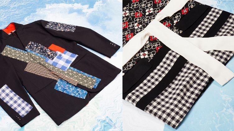 Les vestes revisitées avec des kimonos : opération upcycling de Louis Gabriel Nouchi pour le Who's Next  (DR)