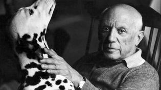 Le peintre Pablo Picasso, photographié à Cannes (Alpes-Maritimes), en 1961. (MARIANNE GREENWOOD / PHOTO RESEARCHERS RM / GETTY IMAGES)