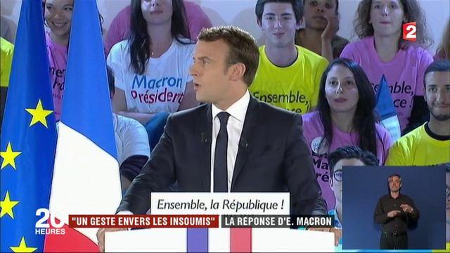 """""""Un geste envers les Insoumis"""" : la réponse d'Emmanuel Macron"""