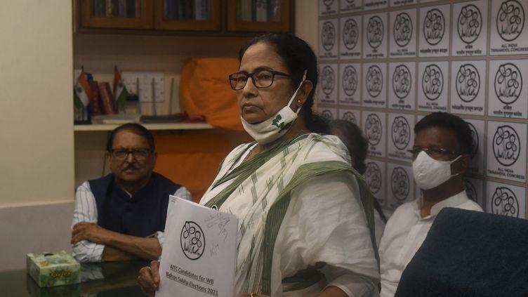La cheffe du gouvernement régional du Bengale occidental, Mamata Banerjee 5 mars2021). (DIBYANGSHU SARKAR / AFP)