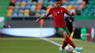 Le portugaisJoao Cancelo lors du match de préparation à l'Euro, face à Israël, au stade Jose Alvalade à Lisbonne, le 9 juin 2021. (PEDRO FIUZA / NURPHOTO / AFP)