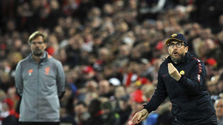 Le coach de la Roma Eusebio Di Francesco (RUI VIEIRA/AP/SIPA / AP)