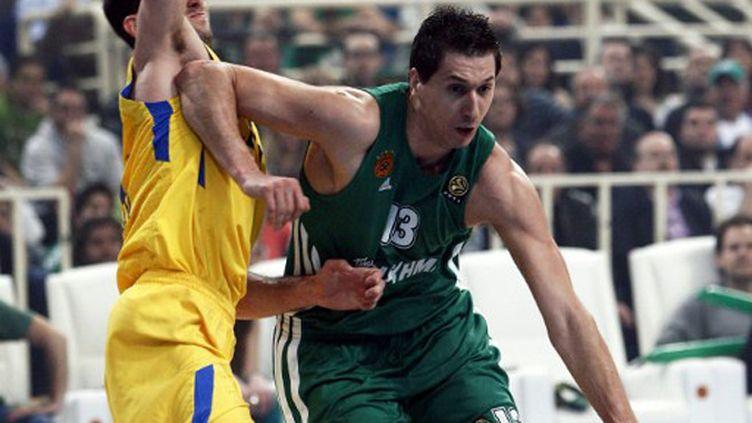 Le meneur du Panathinaikos Dimitris Diamantidis encore décisif