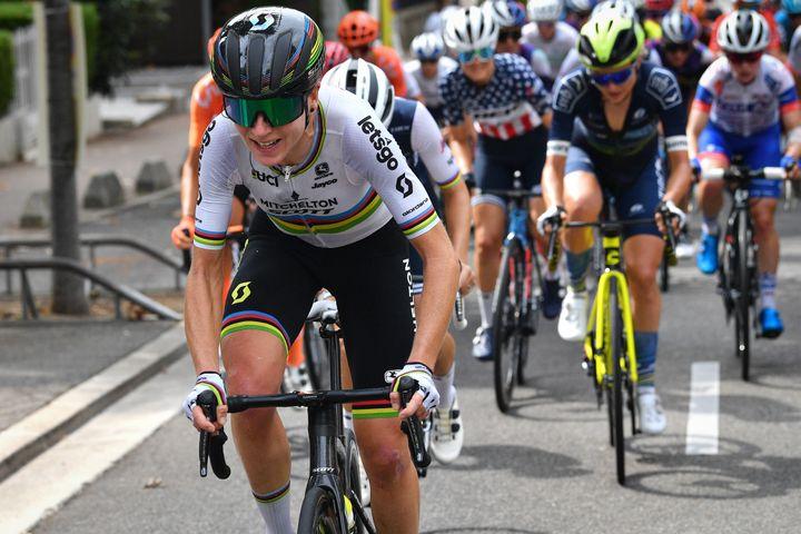 La Néerlandaise Annemiek van Vleuten (Mitchelton - Scott), fer de lance du cyclisme féminin (DAVID STOCKMAN / BELGA MAG)