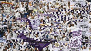 Des supporters du Real Madrid pendant un match contre le Malaga CF, le 25 novembre 2017. (AFP)