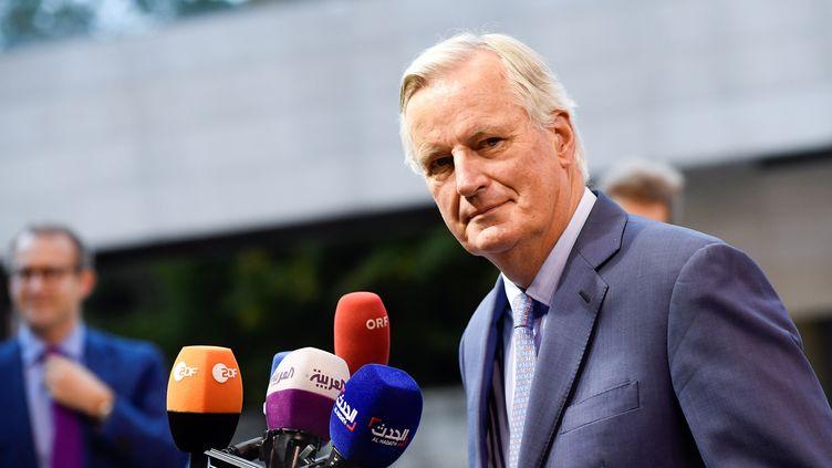 Le négociateur de l'UE pour le Brexit, Michel Barnier, le 15 octobre 2019 à Luxembourg. (JOHN THYS / AFP)