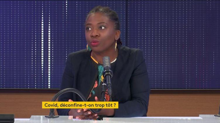 Danièle Obono, députée La France insoumise de Paris, était l'invitée de franceinfo samedi 24 avril 2021. (FRANCEINFO / RADIO FRANCE)