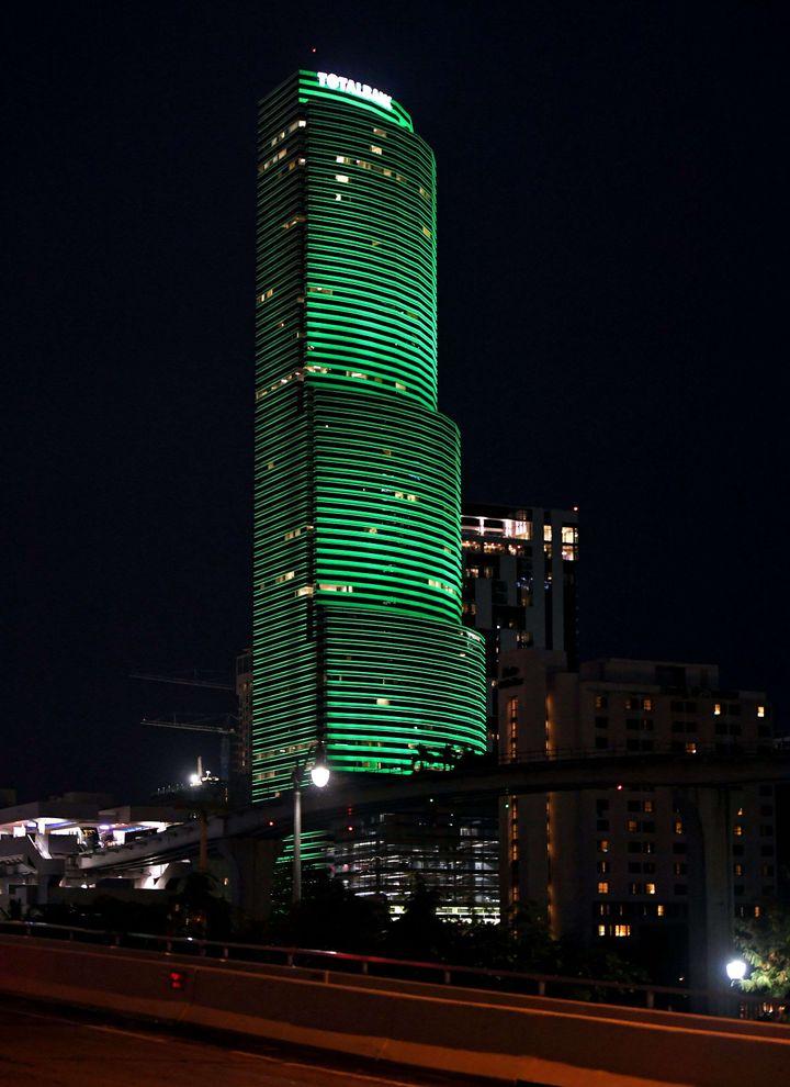 La Miami Tower, à Miami (Floride), le 2 juin 2017. (LARRY MARANO /SHUTTERSTOCK / REX / SIPA)