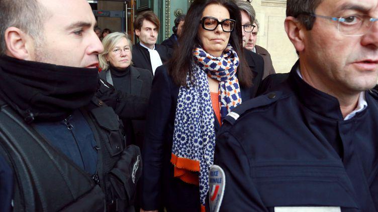 Françoise Bettencourt Meyers quitte le tribunal de Bordeaux, jeudi 7 juillet 2016. (NICOLAS TUCAT / AFP)