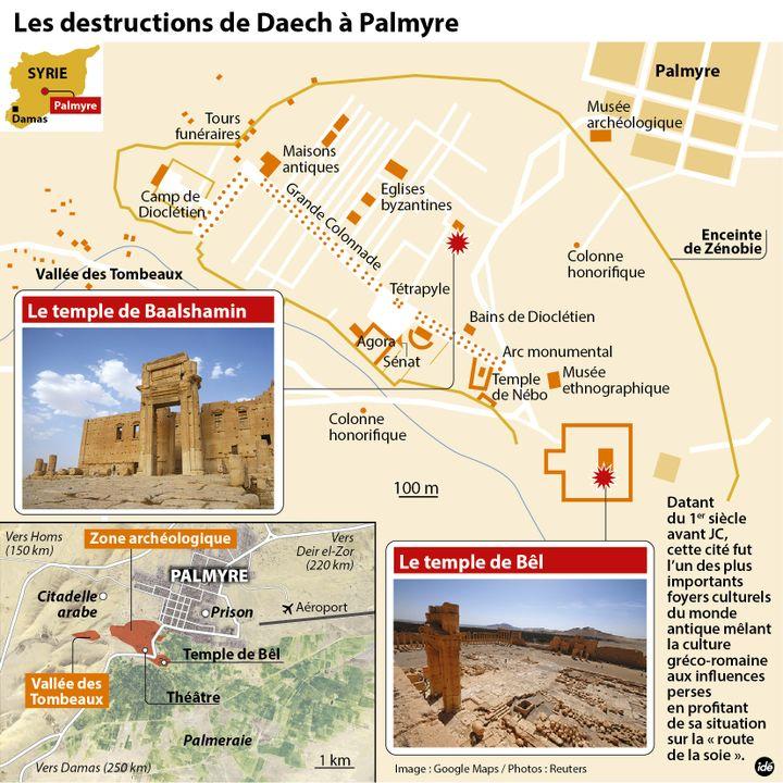 (Les destructions de Daech à Palmyre)