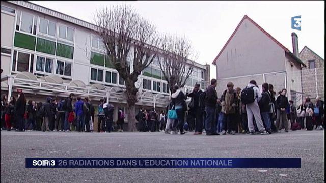 26 radiations dans l'Éducation nationale
