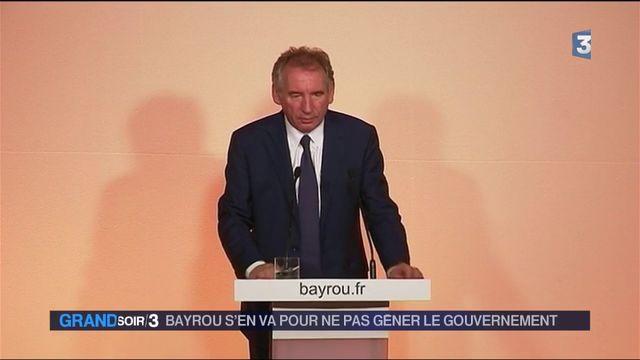 François Bayrou s'en va pour ne pas gêner le gouvernement