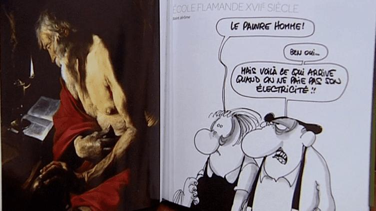 """L'avis """"éclairé"""" des Bidochon face à une toile de l'école flamande.  (France 3)"""