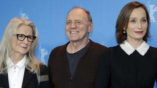 Sally Potter, Bruno Ganz et Christine Scott-Thomas le 13 février 2017 à la Berlinale  (Michael Sohn / AP / Sipa)