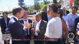 Le président de la République doit rencontrer des demandeurs d'emploi, jeudi 24 octobre, alors que La Réunion connaît un taux de chômage de 24 %. (FRANCE 2)
