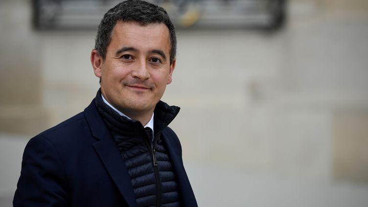 Gérald Darmanin quitte le palais de l'Elysée, à Paris, le 24 octobre 2018. (ERIC FEFERBERG / AFP)