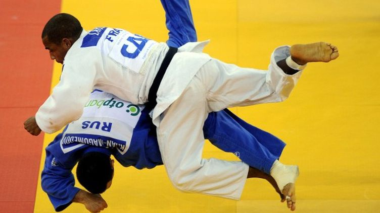 David Larose en bronze en - 66kg (ATTILA KISBENEDEK / AFP)