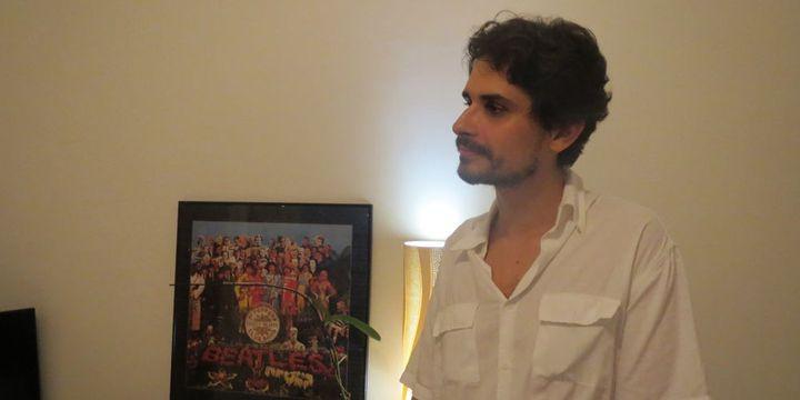 Thiago Amud de passage à Ipanema, Rio de Janeiro, pour l'interview (6 avril 2013)  (Annie Yanbékian)