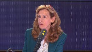 La ministre de la Justice, Nicole Belloubet, invitée de franceinfo le 2 avril 2019. (FRANCEINFO / RADIOFRANCE)