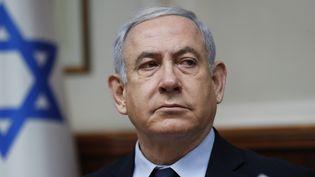 Le Premier ministre israélien Benyamin Nétanyahou, le 9 février 2020 à Jérusalem. (RONEN ZVULUN / AFP)