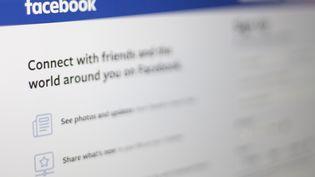 Unepage de connexion de Facebook, le 10 juillet 2019 à Washington (Etats-Unis). (ALASTAIR PIKE / AFP)