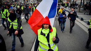 Des manifestants à Nantes, le 12 janvier. (LOIC VENANCE / AFP)