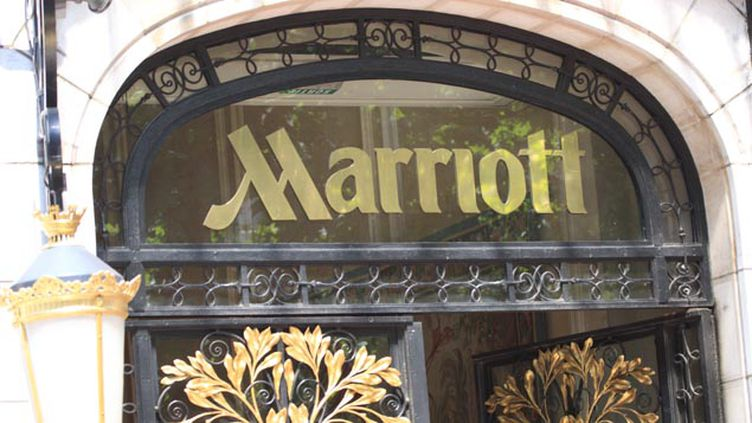 (L'hôtel Marriott est situé 70 rue des Champs-Elysées © Maxppp)