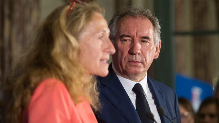 Passation de pouvoir ce 22 juin au Ministère de la Justice entre François Bayrou et Nicole Belloubet (NICOLAS KOVARIK / MAXPPP)