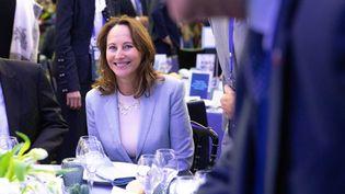 Ségolène Royal lors d'une conférence sur la coopération économique le 13 novembre 2019 à Paris. (CHRISTOPHE MORIN / MAXPPP)