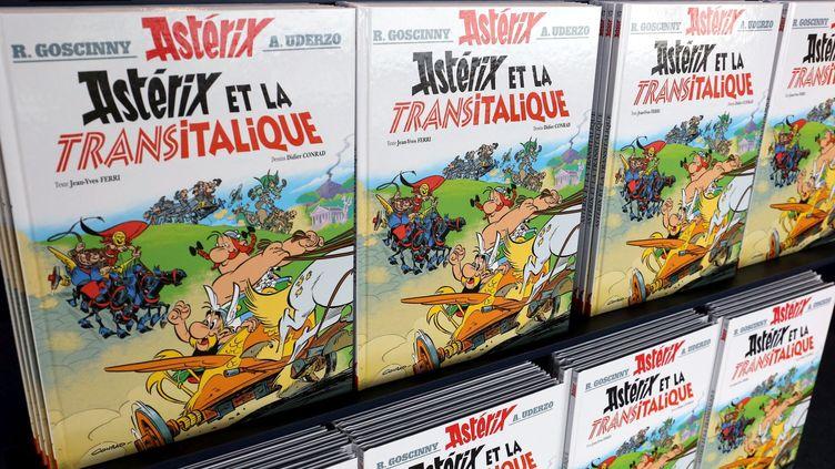"""L'album """"Astérix et la Transitalique"""" a dominé les ventes de livres en France en 2017.  (Julio Pelaez / PQR Le Républicain lorrain / MaxPPP)"""