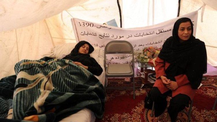 Semin Barakzaï a refusé aujourd'hui que lui soit posée une nouvelle perfusion. (SHAH MARAI / AFP)