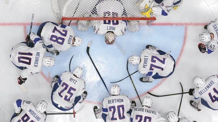 L'équipe de France de hockey sur glace (ALEXANDER NEMENOV / AFP)