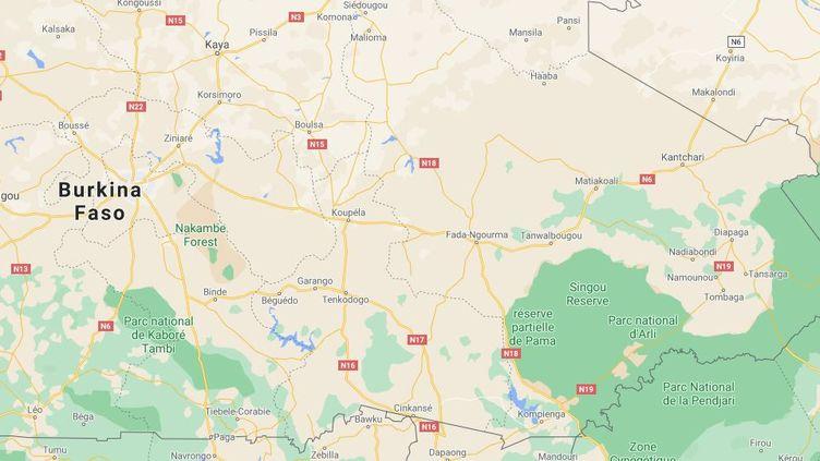 L'attaque est survenue lundi 26 avril 2021,entre les villes de Fada N'Gourm et Pama, dans l'est du Burkina Faso. (GOOGLE MAPS)