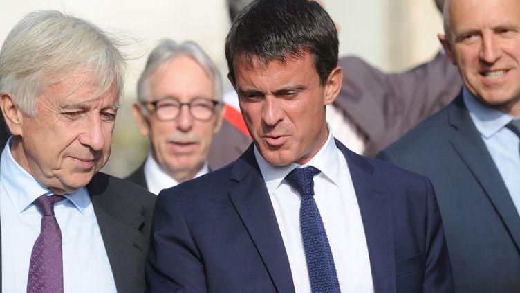 Ministre Manuel Valls dans une école de Saulxures les Vannes (Meurthe-et-Moselle) le 4 septembre 2014 (POL EMILE / SIPA)