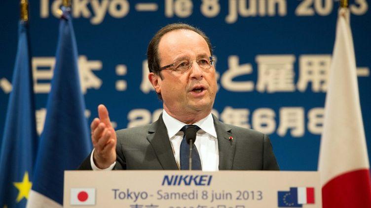 Le président français François Hollande lors d'une conférence de presse à Tokyo (Japon) le 8 juin 2013. (BERTRAND LANGLOIS / AFP)