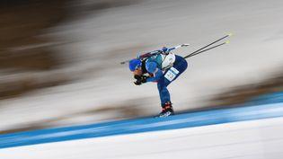 Le Français Martin Fourcade, le 15 février 2018 aux JO d'hiver de Pyeongchang, en Corée du Sud. (FRANCK FIFE / AFP)