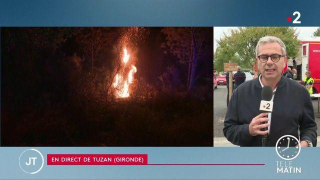 Gironde : 250 hectares de forêt brûlés, quatre pompiers blessés