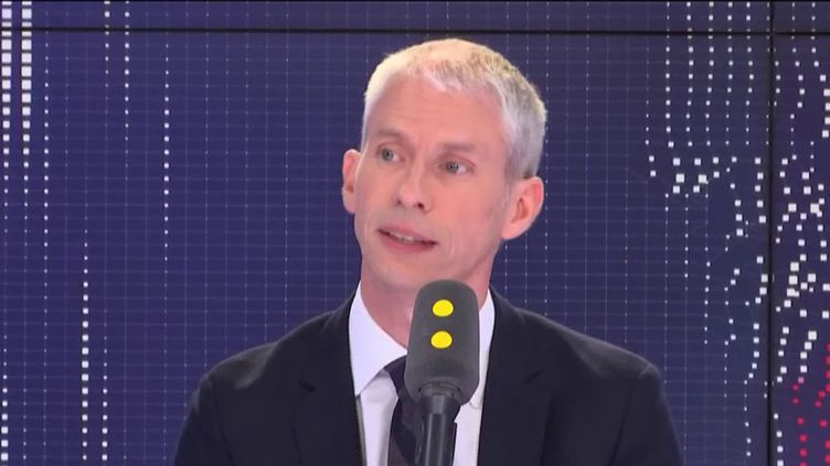 Franck Riester, ministre de la Culture, invité de franceinfo vendredi 12 avril 2019. (FRANCEINFO / RADIOFRANCE)